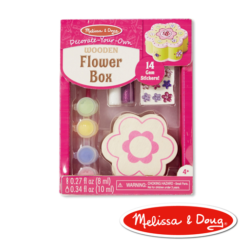 美國瑪莉莎 Melissa & Doug  DIY手作 - 木製花形珠寶盒