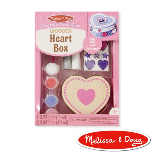 美國瑪莉莎 Melissa & Doug DIY手作 - 木製愛心珠寶盒