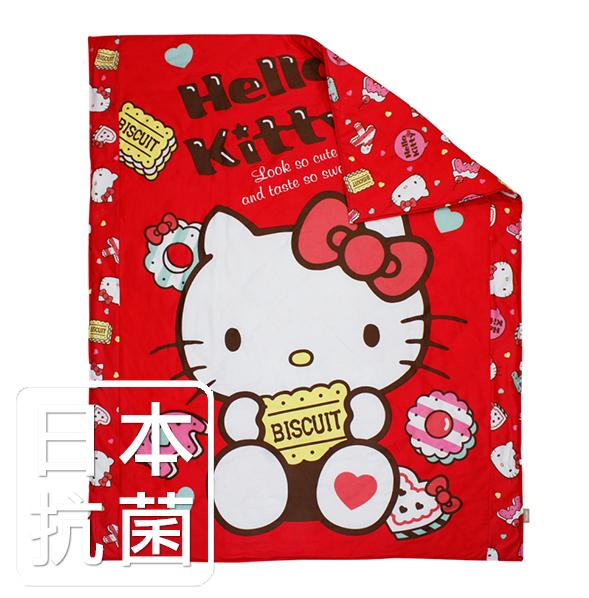 【鴻宇‧日本抗菌】HELLO KITTY繽紛甜心系列 絲毯涼被(4x5尺)-紅