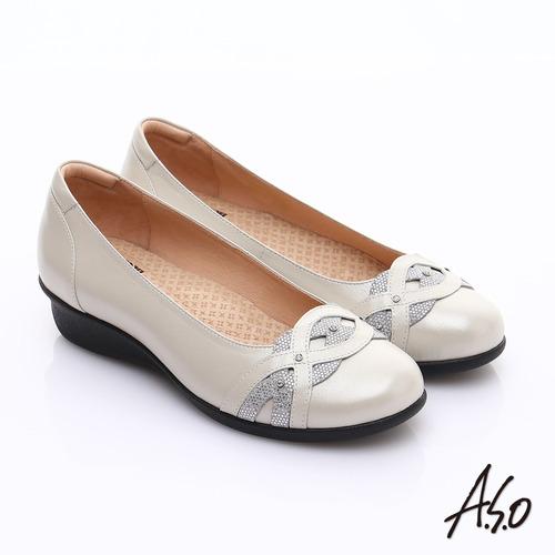 【A.S.O】 舒適通勤 水鑽奢華通勤鞋(白)