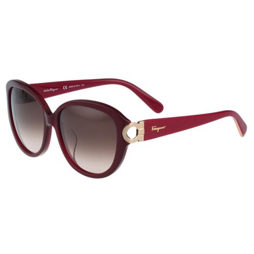 Salvatore Ferragamo- 時尚太陽眼鏡(紅色)