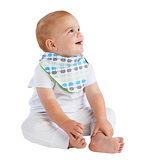 【Mum 2 Mum】雙面時尚造型口水巾圍兜-小象/萊姆綠