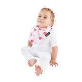 【Mum 2 Mum】雙面時尚造型口水巾圍兜-愛心/粉紅