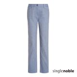 獨身貴族 寬版直筒西裝九分長褲(2色)-牛仔藍