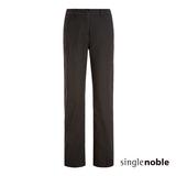 獨身貴族 寬版直筒西裝九分長褲(2色)-黑色