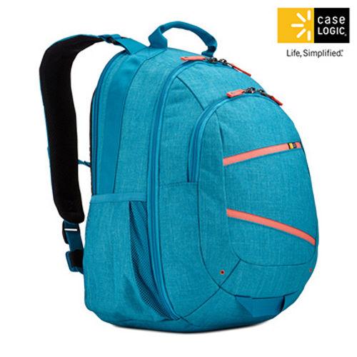 美國Case Logic 雙肩15.6吋 10.1吋平板電腦後背包BPCA~315孔雀藍色
