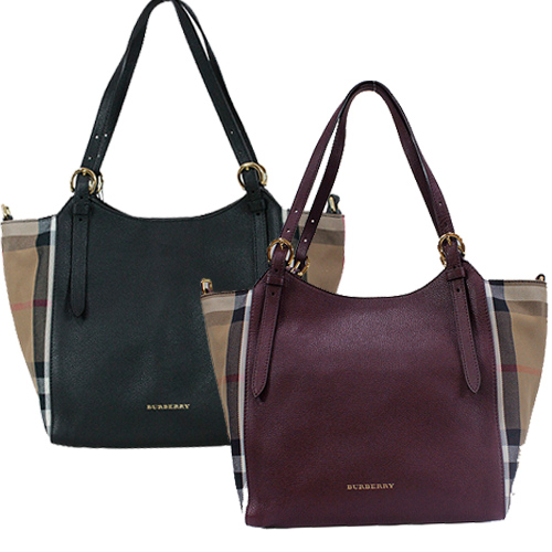 BURBERRY Canter Horseferry 皮革托特包(兩色)