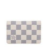 Louis Vuitton LV N63144 白棋盤格紋信用卡簡便短夾 預購