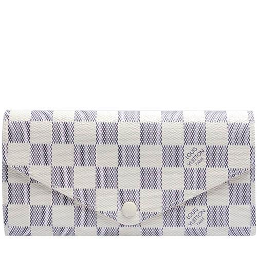 Louis Vuitton LV N63545 Josephine 白棋盤格紋三折活動零錢長夾_預購