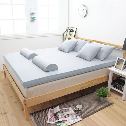 【輕鬆睡-EzTek】新雙層竹炭釋壓記憶床墊(雙人加大9cm波浪面)