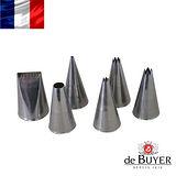 法國【de Buyer】畢耶烘焙 標準不鏽鋼6入擠花嘴組