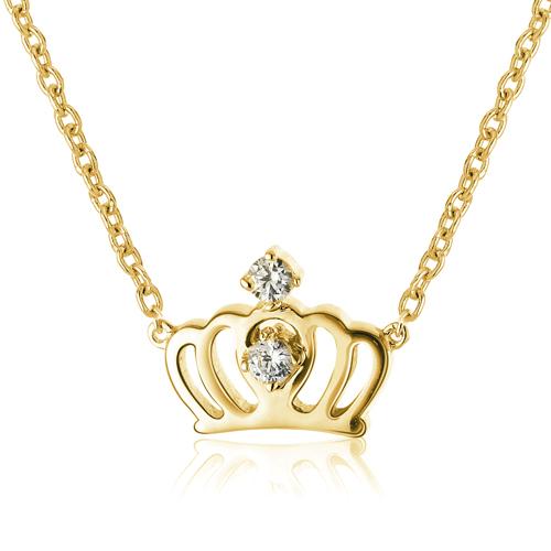 【YUME】華麗小皇冠項鍊