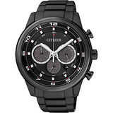 CITIZEN Eco-Drive 率性雅爵計時腕錶-IP黑/44mm CA4035-57E