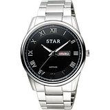 STAR 時代 羅馬風情時尚女錶-黑x銀/32mm 1T1512-111S-D