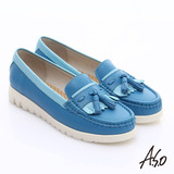 【A.S.O】輕漾漫步 繽紛輕巧休閒鞋(藍)