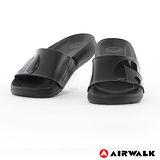 AIRWALK- 輕盈舒適中性EVA休閒多功能室內外拖鞋 - 全黑