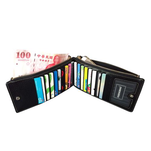 PUSH!長夾可放5吋手機皮夾信用卡包零錢包手機套手機包保護皮套PUSH15黑色