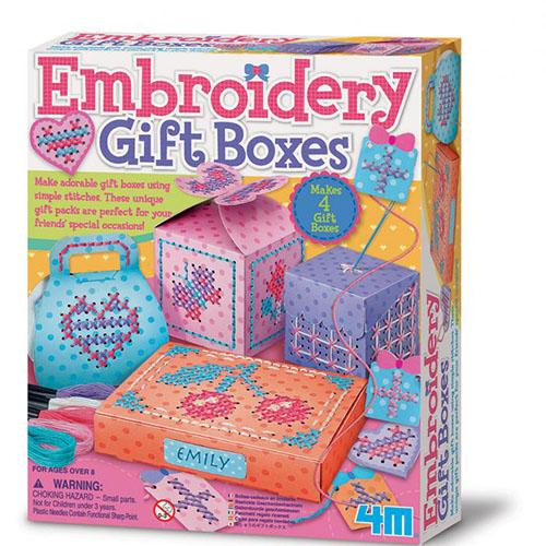 (購物車)《4M美勞創作》刺繡禮物盒 Embroidery Gift Boxes