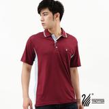 【遊遍天下】 台灣製男款顯瘦吸濕排汗POLO衫(酒紅L-3L) (品特)