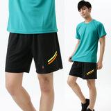 【遊遍天下】 台灣製中性款超涼吸濕排汗短褲(黑XL-5L) (品特)