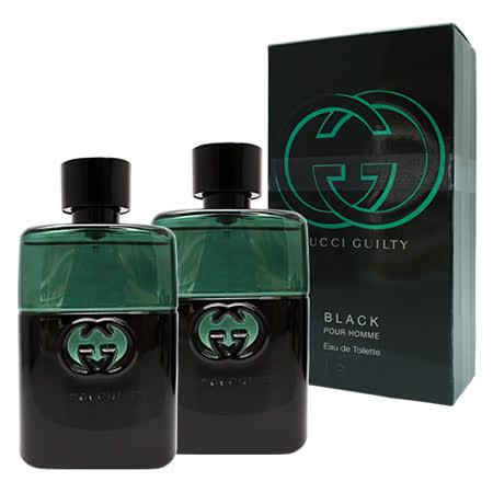 【買一送一】GUCCI GUILTY BLACK 罪愛 夜 男性淡香水 50ml