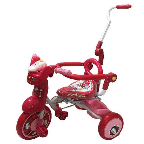 [孩子國] 兒童可後控摺疊豪華三輪車 粉紅色