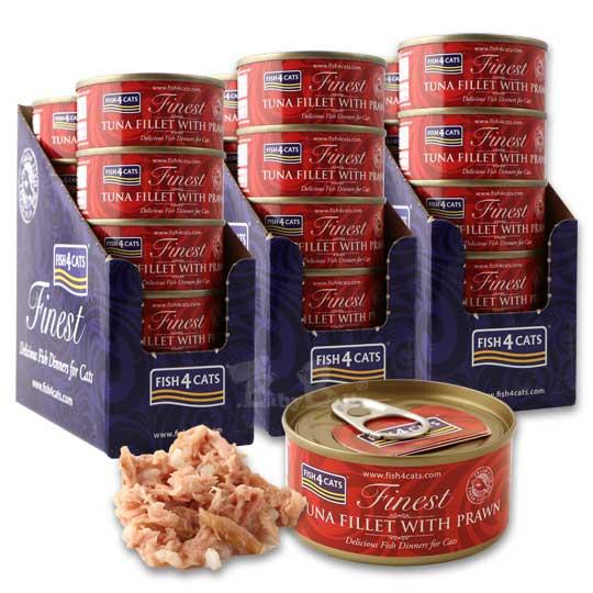 【海洋之星FISH4CATS】鮪魚明蝦貓罐 70g (30罐)