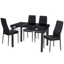 AT HOME-馬可3.6尺長方桌椅組-一桌四椅(2色可選)