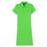 Ralph Lauren 小馬素色連身POLO洋裝(亮綠)