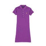 Ralph Lauren 小馬素色連身POLO洋裝(艷紫/XS)