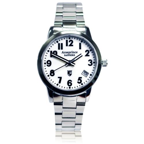 【Arseprince】經典指針個性時尚男錶-白色