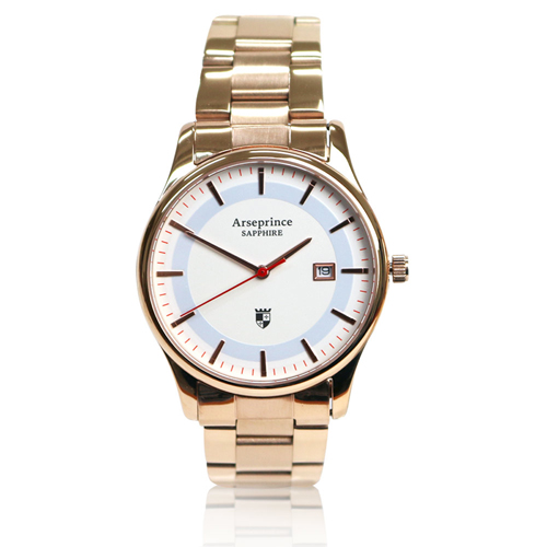 【Arseprince】極簡品味風格時尚中性錶-金色