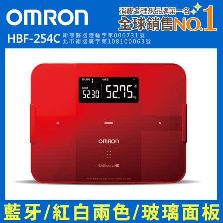 OMRON歐姆龍藍芽智慧體重體脂計 HBF-254C紅色 -friDay購物