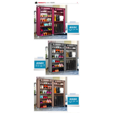 超大簡易雙排防塵鞋櫃 -friDay購物