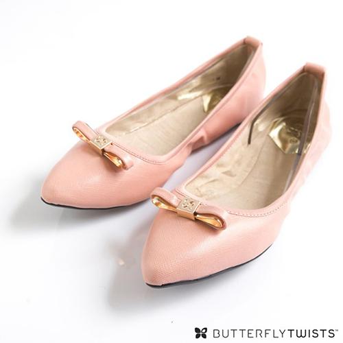 BUTTERFLY TWISTS - ISOBEL可折疊扭轉芭蕾舞鞋-淡粉紅