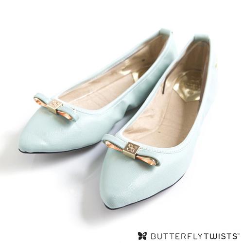 BUTTERFLY TWISTS - ISOBEL可折疊扭轉芭蕾舞鞋-淡粉藍