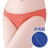 【思薇爾】I SWEAR系列M-XL蕾絲低腰三角褲(群青藍)