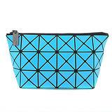 三宅一生 BAOBAO幾何方格3x6萬用化妝包(水藍)