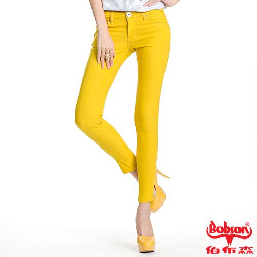 【BOBSON】女款彩色強彈力緊身褲(8087-31)