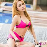 【Sexy Cynthia】桃粉甜心鋼圈比基尼兩件式泳衣組