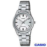 CASIO卡西歐 簡潔風格鋼帶女錶-白 LTP-V005D-7A