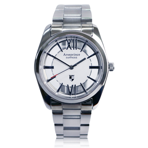 【Arseprince】羅馬假期雙面鏤空時尚中性錶-白銀