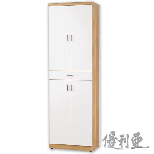 【優利亞-羅尼雙色】6.5尺高鞋櫃