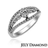 【JELY】心願0.30克拉H&A八心八箭美鑽戒指