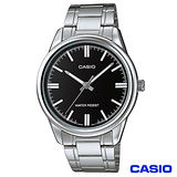 CASIO卡西歐 簡潔風格鋼帶男錶-黑 MTP-V005D-1A