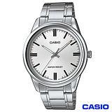 CASIO卡西歐 簡潔風格鋼帶男錶-白 MTP-V005D-7A