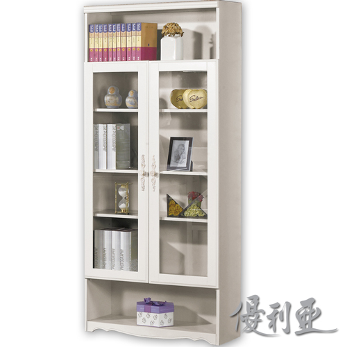 【優利亞-仙朵菈白色】2.7尺書櫃