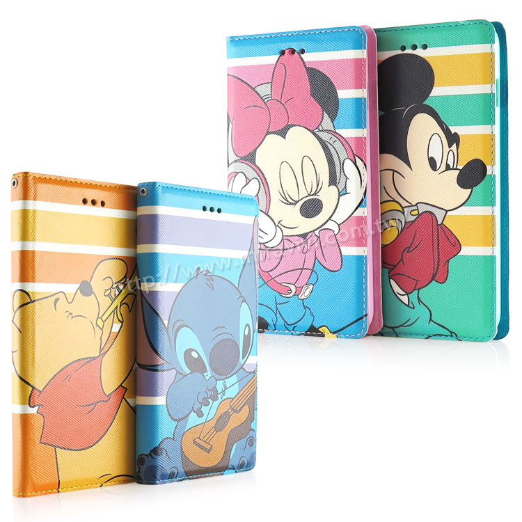 Disney iPhone 6 Plus 6s Plus 音樂人物隱磁側掀皮套