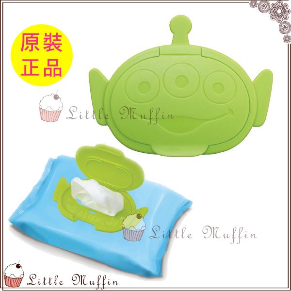 日本迪士尼 重覆黏濕紙巾專用盒蓋 必貼妥 玩具總動員 三眼外星人造型