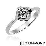 【JELY】期待愛0.30克拉/F/VS2/H&A八心八箭美鑽戒指